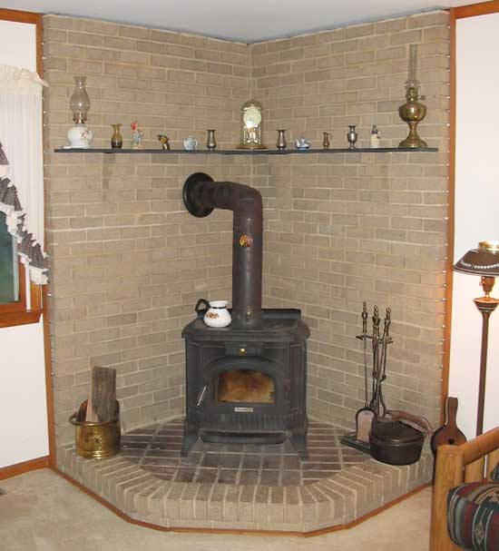 free standing fireplace screen with glass